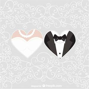 Bride and groom hearts Vector | Free Download