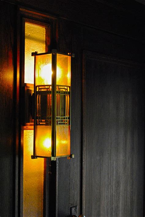 a frank lloyd wright light fixture at the darwin martin
