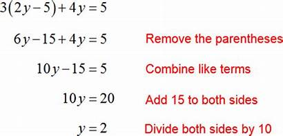 Simple Equation Example Mathematics Equations Exercise Solutions