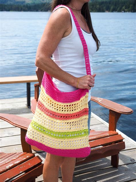 crochet beach tote bag pattern favecraftscom