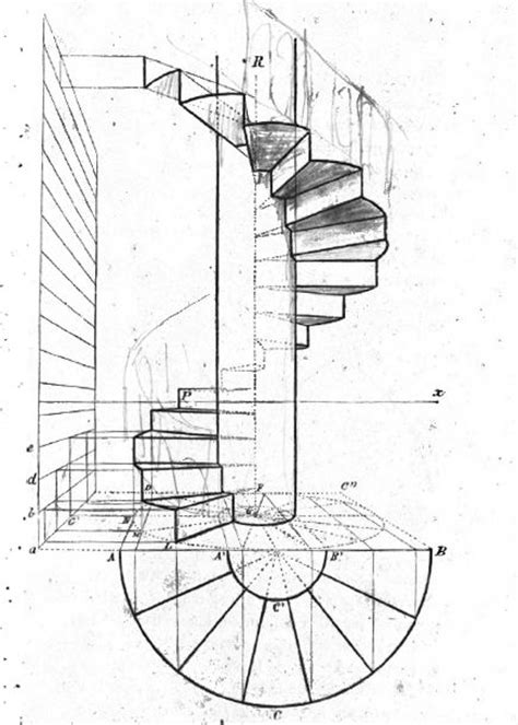 escalier en colimaon dessin cfsl net forums view topic escalier helicoidale