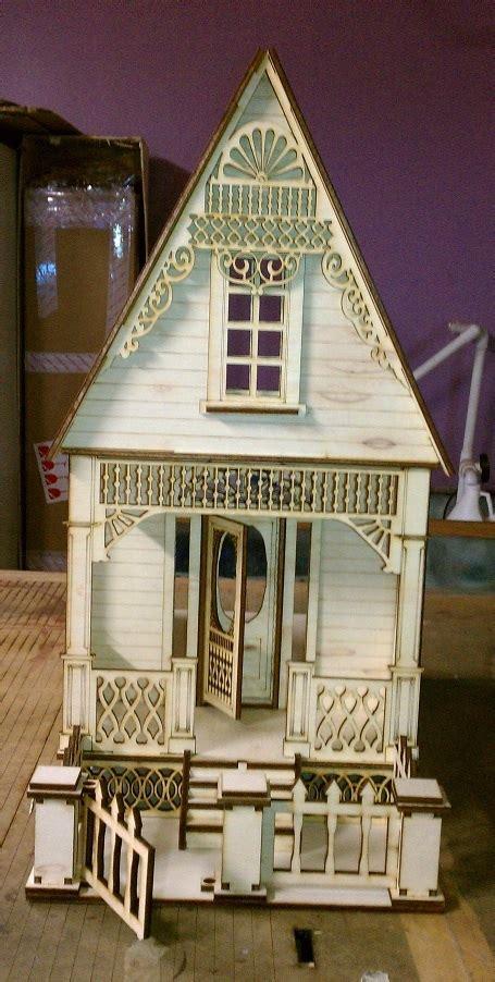 ann victorian cottage  scale dollhouse kit