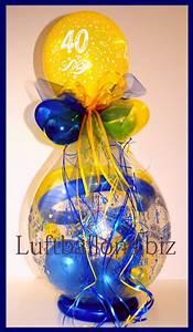 Geldgeschenke Geburtstag 40 : geschenkballon luftballon zum verpacken von geschenken zum 40 geburtstag lu geschenkverpackung ~ Frokenaadalensverden.com Haus und Dekorationen