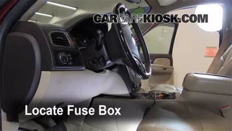 interior fuse box location   gmc yukon xl   gmc yukon xl  slt