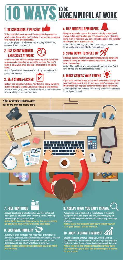 [Infographic] 10 Ways to Be More Mindful at Work ...