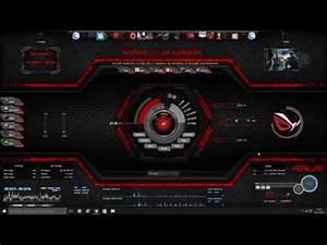 System Shock Red Shodan Rainmeter