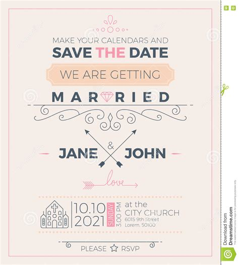 Church Wedding Invitation Card Template