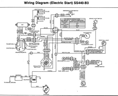 Electric Start Wiring Diagram by Kawasaki Invader Snowmobile Wiring Diagrams