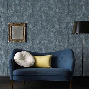 Mineral Midnight Wallpaper by Graham and Brown