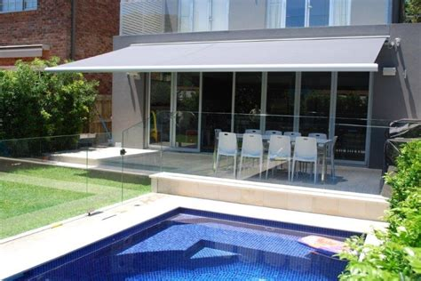 retractable folding arm awnings size options klingshield