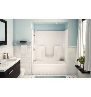 aker cm   wh    tub  shower stall  left
