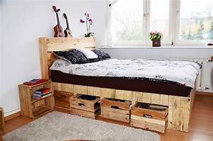 Pallet Wood King Size Bed with Drawers & Storage • 1001