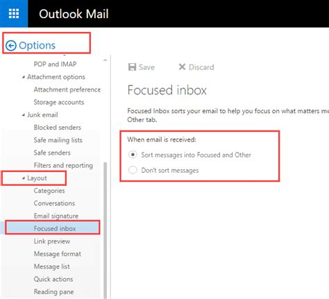 Office 365 Mail Focused by Using The Focused Inbox In Outlook Apps