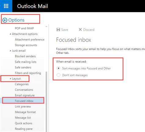 Office 365 Outlook Focused Inbox by Using The Focused Inbox In Outlook Apps