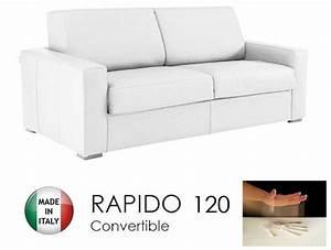 canape convertible rapido 120cm dreamer cuir vachette With canapé convertible rapido cuir