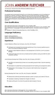 language resume format cv sle with language skills myperfectcv