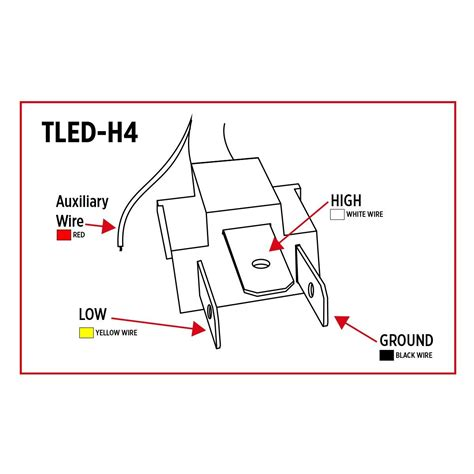 Tled Trux Led Projector Headlight With White
