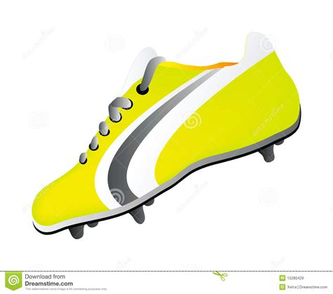 vector soccer shoe royalty  stock images image