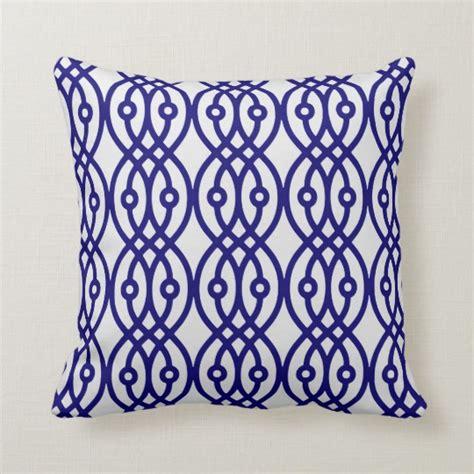 Navy Blue And Silver Throw Pillows by Kimono Print Silver Grey And Navy Blue Throw Pillow
