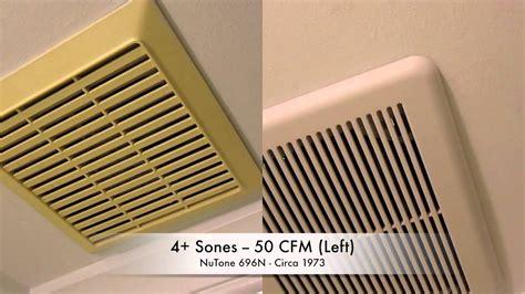 bathroom exhaust fan noise comparison youtube