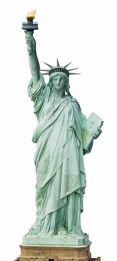 Liberty Statue Transparent Background Lady Usa Broken