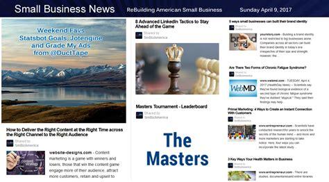 Small Business News Sunday 4917  Small Business News