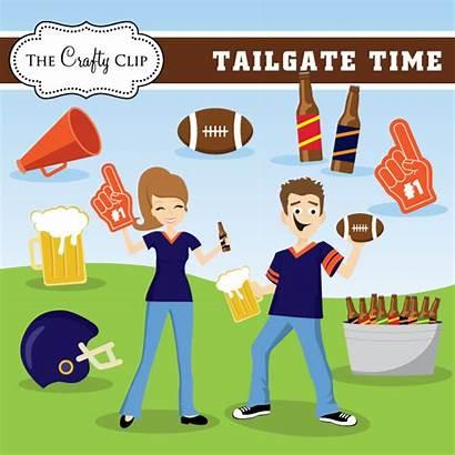 Clipart Football Tailgate Clip Truck Season Party