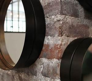 Miroir Rond Métal Noir : miroir rond m tal noir 11 id es de d coration int rieure french decor ~ Teatrodelosmanantiales.com Idées de Décoration