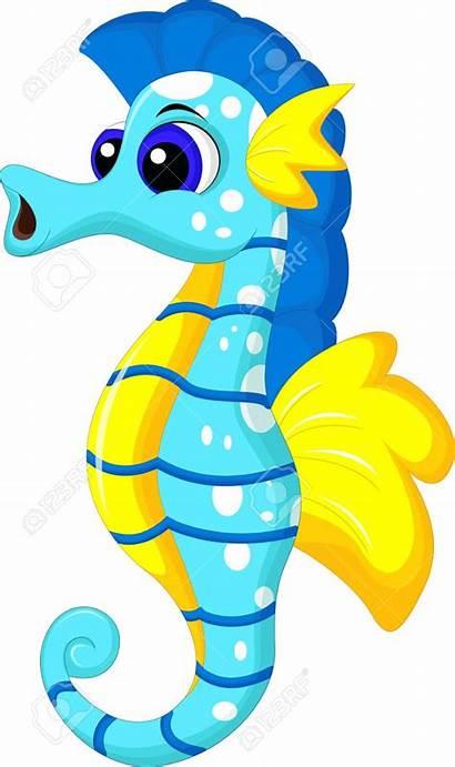 Seahorse Clipart Comic Clip