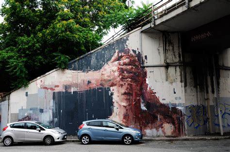 Borondo New Mural In Rome Italy Streetartnews