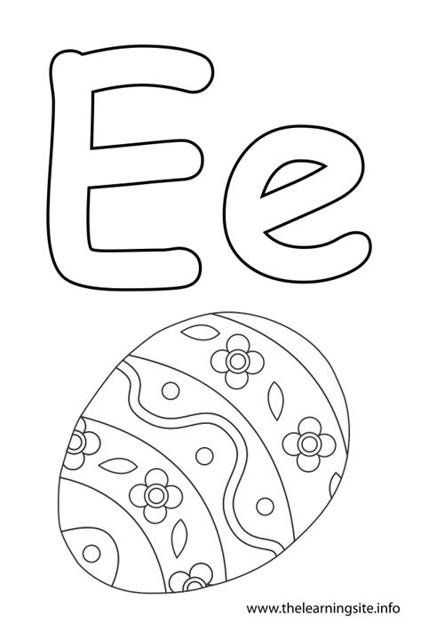 Coloring Letter E by The Learning Site