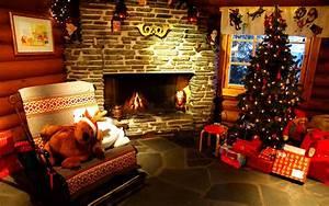 Christmas Fireplace Backgrounds