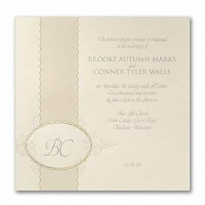opulent monogram invitation gt wedding invitations staples With staples wedding invitations coupons