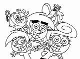 Coloring Fairly Parents Pages Oddparents Odd Printable Getcolorings Popular sketch template
