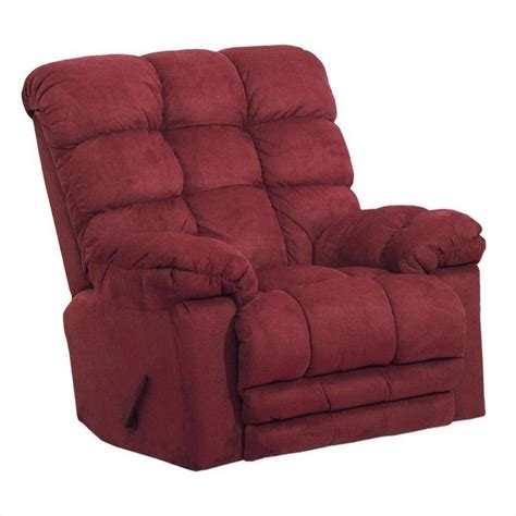 chaise rocking chair catnapper magnum chaise rocker recliner chair in merlot