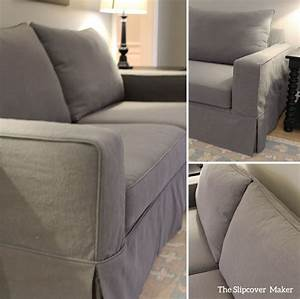 cotton poly canvas slipcover for pottery barn sofa the With best pottery barn fabric for sofa
