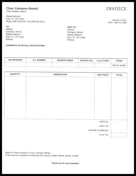 drive invoice template invoice template docs