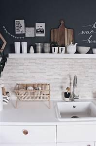 Ideen Für Küchenwände : k che neu gestalten schnell und einfach mit tafelfarbe dunkelgraue w nde k che neu ~ Sanjose-hotels-ca.com Haus und Dekorationen