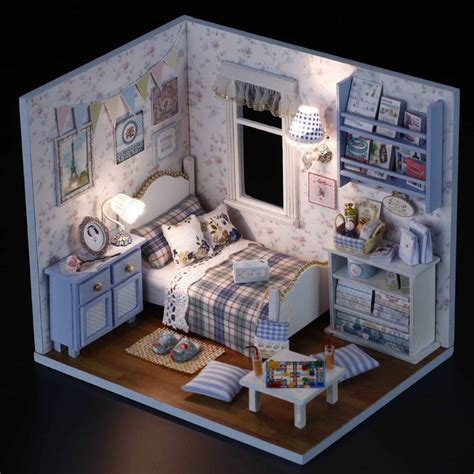 New Dollhouse Miniature Diy Kit With Cover Wood Toy Dolls