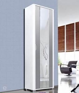 Flurschrank Mit Spiegel : top hochglanz spiegel kleiderschrank flurschrank ~ Watch28wear.com Haus und Dekorationen