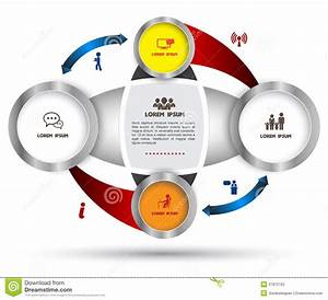 Diagram Template For Business Plan Or System Stock