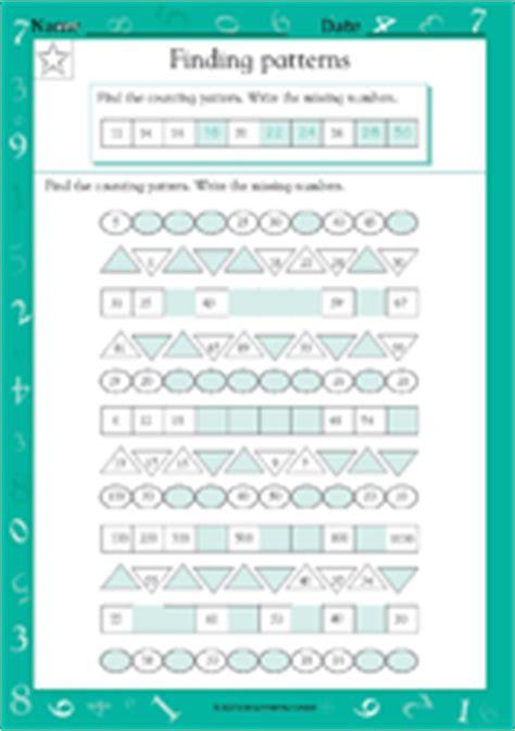 finding number patterns worksheet grade  teachervision