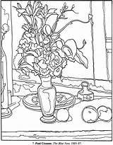 Coloring Pages Cezanne Monet Monopoly Paul Still Dover Colouring Paintings Picasso Publications Famous Printable Google Artist Sheets Getcolorings Sampler Da sketch template