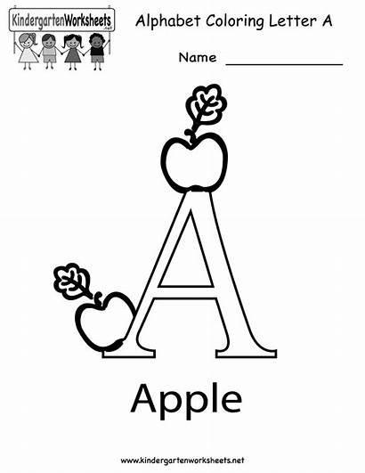 Letter Worksheets Printable Alphabet Coloring Kindergarten Worksheet