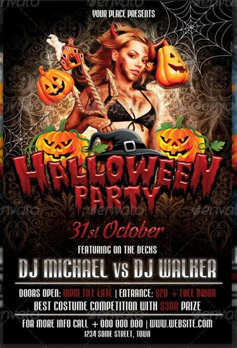 free printable halloween flyer 20 flyer templates for events