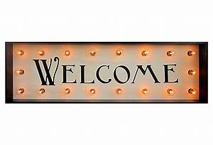 """Marquee Light-Up """"Welcome"""" Sign"""
