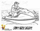 Coloring Boat Boats Jet Ski Pages Water Yescoloring Printables Ships Cool Army Drawing Fishing Print Shrimp Navy Power Printable Skis sketch template