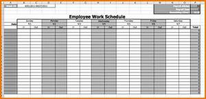 Calendar Employee Schedule Template Printable Schedule