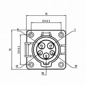 Type 1  J1772  Inlet   Receptacle  Socket 32a For Electric