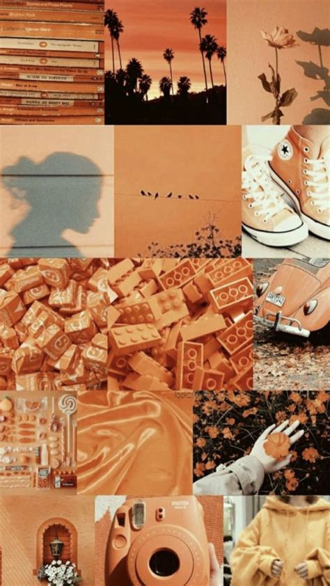 pin by addie on posters orange aesthetic wallpaper